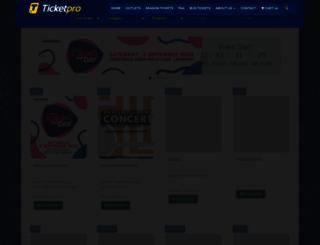 ticketpros.co.za screenshot