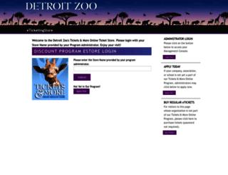tickets.detroitzoo.org screenshot