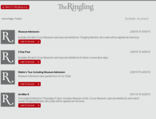 tickets.ringling.org screenshot