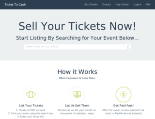 ticketsalessupport.com screenshot