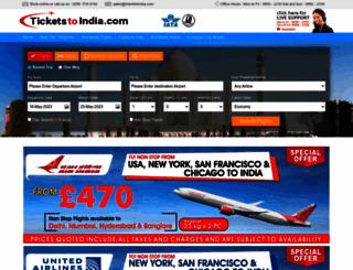 ticketstoindia.com screenshot