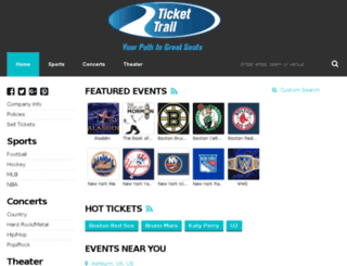 tickettrail.com screenshot