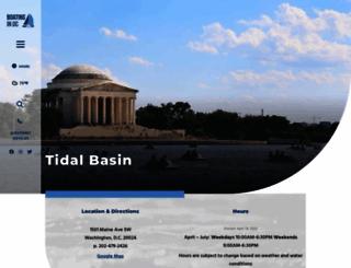 tidalbasinpaddleboats.com screenshot