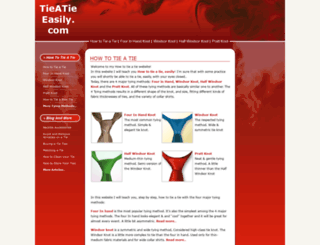 tieatieeasily.com screenshot