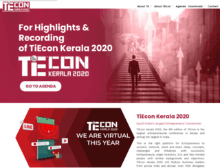 tieconkerala.org screenshot