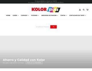 tienda.kolor.com.mx screenshot