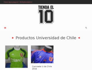 tiendael10.cl screenshot