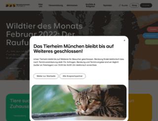 tierheim-muenchen.com screenshot