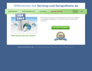 tiershop-und-tierapotheke.de screenshot
