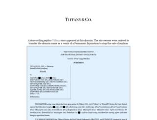 tiffjewelrysale.com screenshot