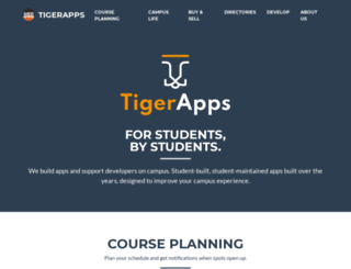tigerapps.org screenshot