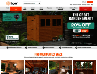 tigersheds.com screenshot