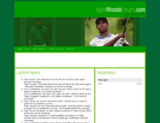 tigerwoodsforum.com screenshot