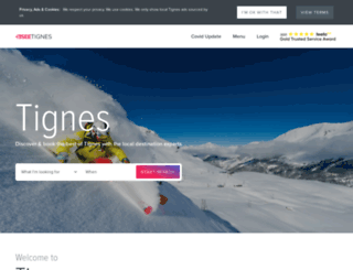 tignesnet.com screenshot