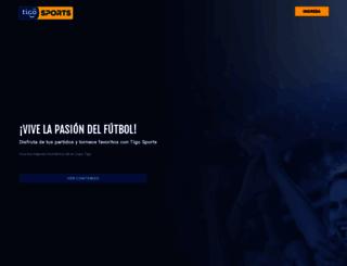tigosports.com.bo screenshot