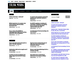 tilakmarg.com screenshot