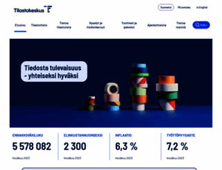 tilastokeskus.fi screenshot