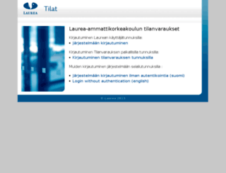 tilat.laurea.fi screenshot