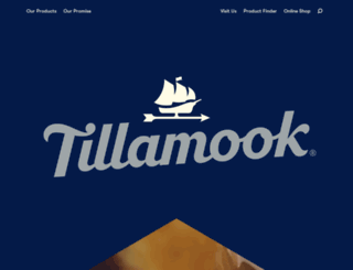 tillamook.com screenshot