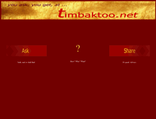timbaktoo.net screenshot