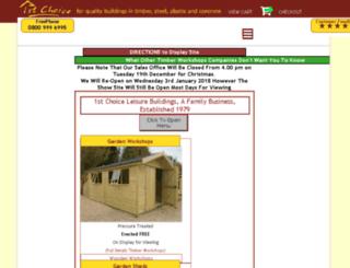 timber-workshops.leisurebuildings.com screenshot
