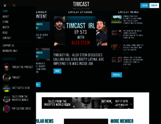 timcast.com screenshot