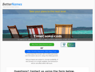 timecases.com screenshot