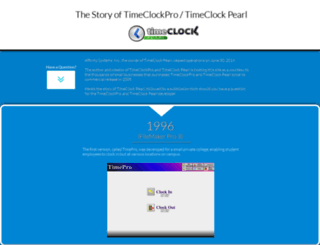 timeclockpro.com screenshot