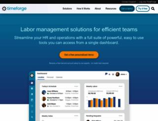 timeforge.com screenshot