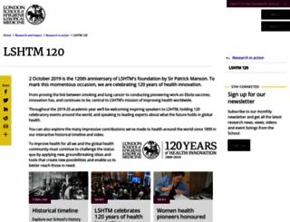 timeline.lshtm.ac.uk screenshot