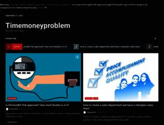 timemoneyproblem.com screenshot