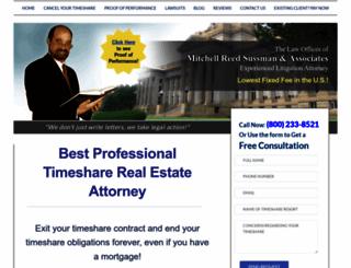 timesharelegalaction.com screenshot