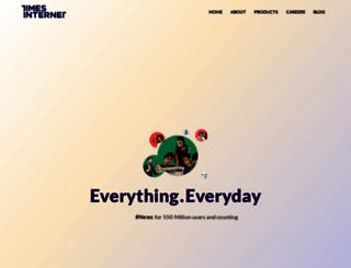 timesinternet.in screenshot