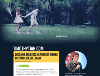 timothytiah.com screenshot