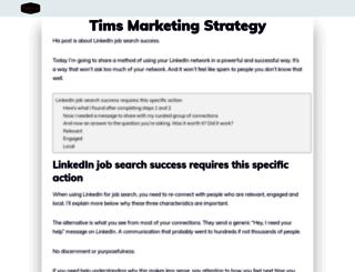 timsstrategy.com screenshot