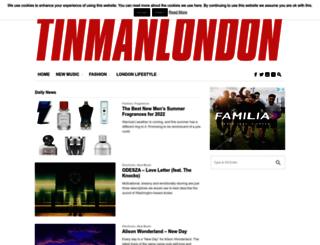 tinmanlondon.com screenshot