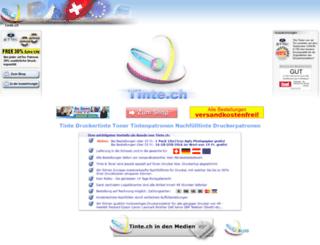 tinte.ch screenshot