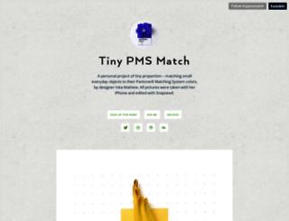 tinypmsmatch.tumblr.com screenshot