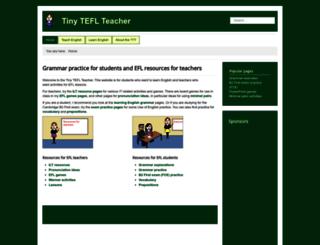 tinyteflteacher.co.uk screenshot