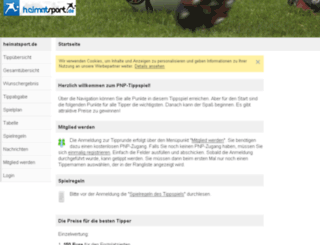 tippspiel.heimatsport.de screenshot