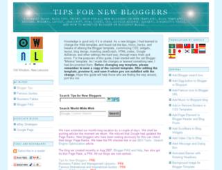 tips-for-new-bloggers.blogspot.com screenshot