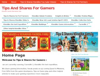 tipsandsharesforgamers.com screenshot