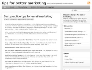 tipsforbettermarketing.com screenshot