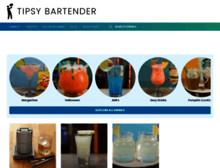 tipsybartender.com screenshot