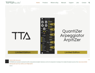 tiptopaudio.com screenshot
