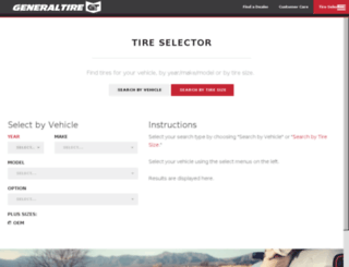 tireselector.generaltire.com screenshot