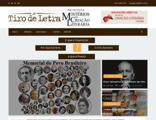 tirodeletra.com.br screenshot