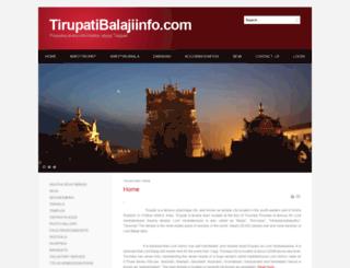 tirupatibalajiinfo.com screenshot