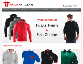tirupurknitwears.in screenshot