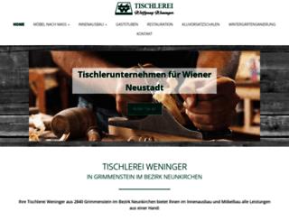 tischlereiweninger.at screenshot